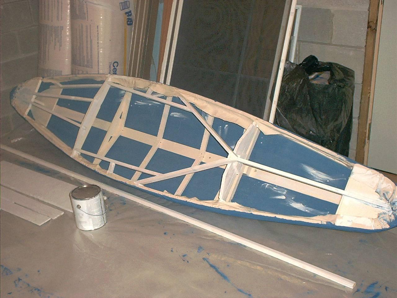 homemade canvas kayaks