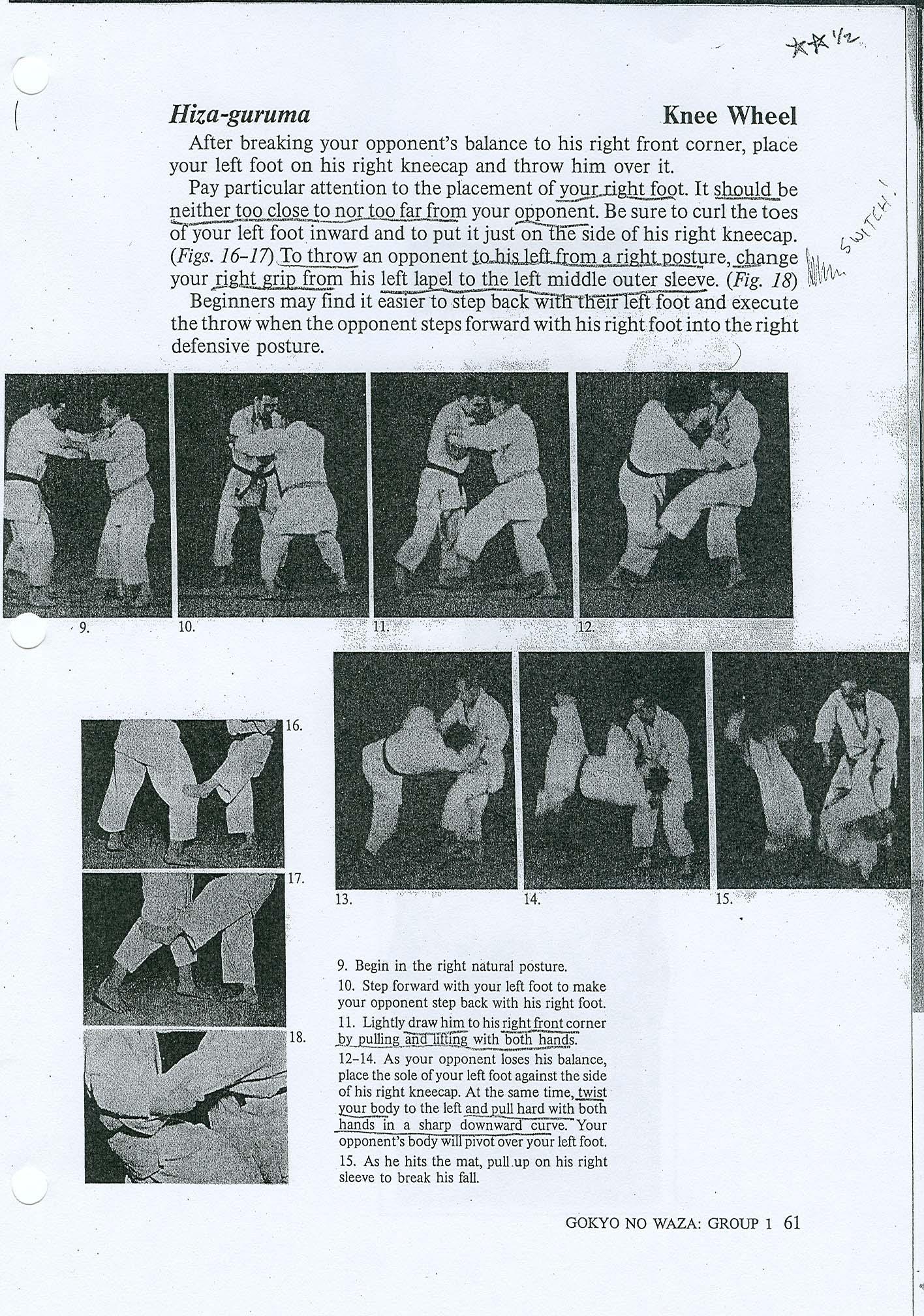 Hiza Guruma.. Renraku and Renzoku FYS_Judo_Hiza_Guruma_Kodokan