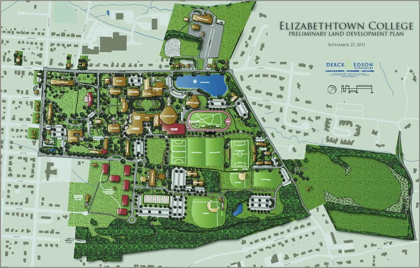 Elizabethtown College Map Etown ARCHITECTURE
